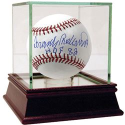 "Frank Robinson Signed Baseball Inscribed ""HOF 82"" with High Quality Display Case (Steiner COA)"