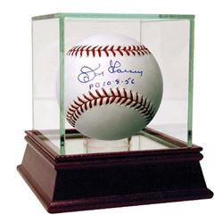 "Don Larsen Signed Baseball Inscribed ""PG 10-8-56"" with High Quality Display Case (Steiner COA)"