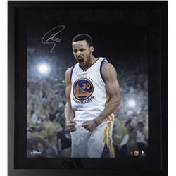 Stephen Curry Signed Warriors 20x24 Custom Framed Limited Edition Photo (Fanatics Hologram)