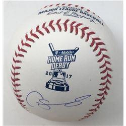 Gary Sanchez Signed 2017 Home Run Derby OML Baseball (Steiner COA)