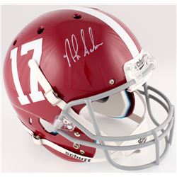 Nick Saban Signed Alabama Crimson Tide Full-Size Helmet (Radtke COA)
