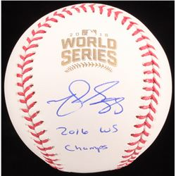 "Matt Szczur Signed 2016 World Series Logo OML Baseball Inscribed ""2016 WS Champs"" (Schwartz COA)"