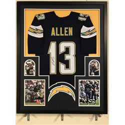Keenan Allen Signed Chargers 34x42 Custom Framed Jersey (JSA COA)