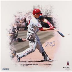 Mike Trout Signed Angels 24x24 Photo (Steiner COA  MLB Hologram)