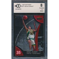 2007-08 Finest #71 Kevin Durant RC (BCCG 8)