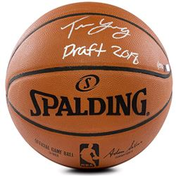 """Trae Young Signed Limited Edition Official NBA Game Ball Inscribed """"Draft 2018"""" (Panini COA)"""