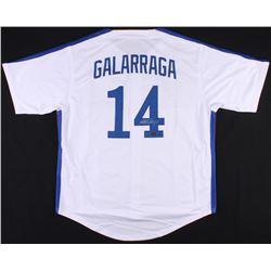 Andres Galarraga Signed Expos Jersey (Radtke COA)