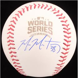 Mike Montgomery Signed 2016 World Series Logo Baseball (Schwartz COA)