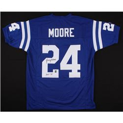 """Lenny Moore Signed Colts Jersey Inscribed """"HOF 75"""" (Jersey Source COA)"""