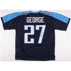 Eddie George Signed Titans Jersey (JSA COA)
