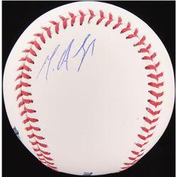 Miguel Andujar Signed OML Baseball (JSA COA)