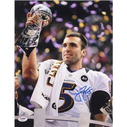 Joe Flacco Signed Ravens 11x14 Photo (PSA COA)