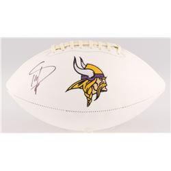 Stefon Diggs Signed Vikings Logo Football (Beckett COA)