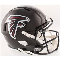 Calvin Ridley Signed Falcons Full-Size Speed Helmet (Radtke COA  Ridley Hologram)