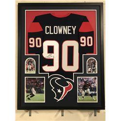Jadeveon Clowney Signed Texans 34x42 Custom Framed Jersey Display (JSA COA)