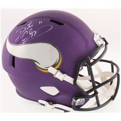 Daunte Culpepper Signed Vikings Full-Size Cutsom Matte Purple Speed Helmet (Radtke COA)