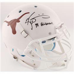"Ricky Williams Signed Texas Longhorns Full-Size On-Field Helmet Inscribed ""98 Heisman"" (Radtke COA)"
