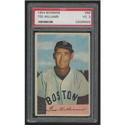 1954 Bowman #66A Ted Williams (PSA 3)