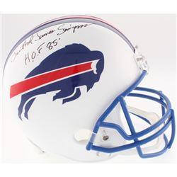 "O. J. Simpson Signed Bills Full-Size Throwback Helmet Inscribed ""H.O.F. 85"" (JSA COA)"