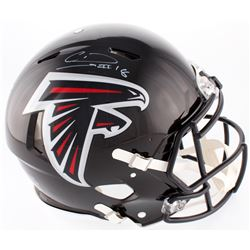 Calvin Ridley Signed Falcons Full-Size On-Field Helmet (Radtke COA  Ridley Hologram)