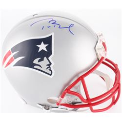Tom Brady Signed Patriots Full-Size On-Field Helmet (Radtke COA  TriStar Hologram)