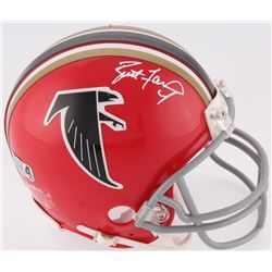 Brett Favre Signed Falcons Throwback Mini-Helmet (Radtke COA)
