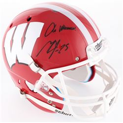 "Melvin Gordon Signed Wisconsin Badgers Full-Size Helmet Inscribed ""On Wisconsin!"" (Radtke COA)"