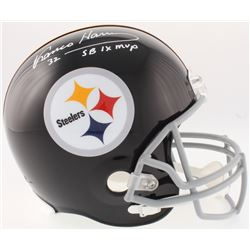 "Franco Harris Signed Steelers Full-Size Throwback Helmet Inscribed ""SB IX MVP"" (JSA COA)"