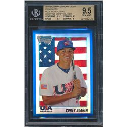 2010 Bowman Chrome Draft Prospects #BDPP108 Corey Seager RC (BGS 9.5)