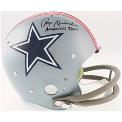 "Roger Staubach Signed Cowboys Full-Size Throwback Suspension Helmet Inscribed ""America's Team"" (JSA"