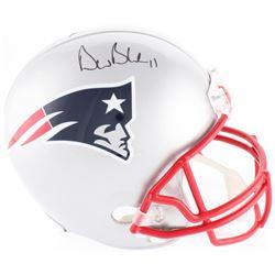 Drew Bledsoe Signed Patriots Full Size Helmet (Beckett COA)