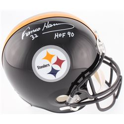 Franco Harris Signed Steelers Full-Size Helmet Inscribed  HOF 90  (JSA COA)