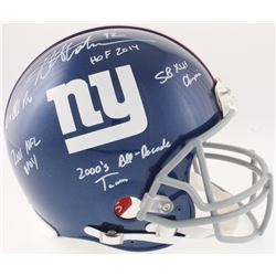 Michael Strahan Signed Giants Full-Size On-Field Helmet with (5) Inscriptions (JSA COA)