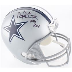 "Dak Prescott Signed Cowboys Full-Size Helmet Inscribed ""2016 ROY"" (JSA COA  Prescott Hologram)"