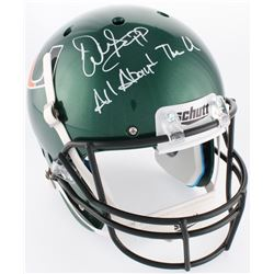 "Warren Sapp Signed Miami Hurricanes Full-Size Helmet Inscribed ""All About The U"" (JSA COA)"