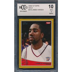 2009-10 Topps Gold #319 James Harden RC (BCCG 10)