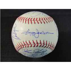 1978 Yankees OML Baseball Team-Signed by (20) with Reggie Jackso, Sparky Lyle, Bucky Dent, Goose Gos