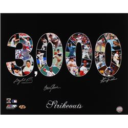 "Gaylord Perry, Fergie Jenkins  Tom Seaver Signed ""3,000 Strikouts"" 16x20 Photo (MAB Hologram)"