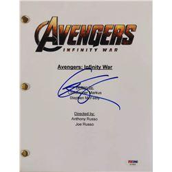 """Chris Hemsworth Signed """"Avengers: Infinity War"""" Full Movie Script (PSA COA)"""