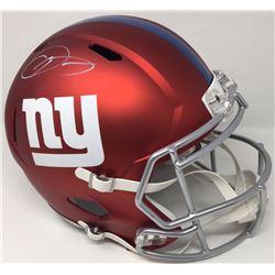 Odell Beckham Jr Signed Giants Full-Size Blaze Helmet (Steiner COA)