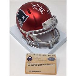 Rob Gronkowski Signed Patriots Blaze Speed Mini Helmet (Steiner COA)