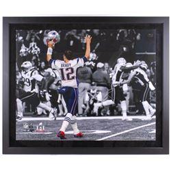 "Tom Brady Signed Patriots ""TD Signal"" 40x48 Custom Framed Limited Edition Photo (Steiner COA  TriSta"
