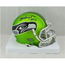 "Steve Largent Signed Seahawks Blaze Speed Mini Helmet Inscribed ""HOF 95"" (JSA COA)"