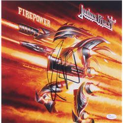 "Rob Halford Signed Judas Priests ""Firepower"" 12x12 Photo (JSA COA)"