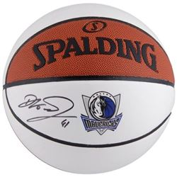 Dirk Nowitzki Signed Mavericks Logo Basketball (Fanatics Hologram)