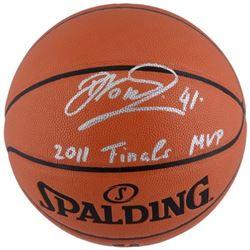"Dirk Nowitzki Signed Basketball Inscribed ""2011 Finals MVP"" (Fanatics Hologram)"