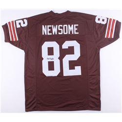 "Ozzie Newsome Signed Browns Jersey Inscribed ""HOF 99"" (JSA COA)"