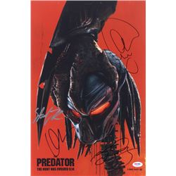 """""""The Predator"""" 12x18 Movie Poster Photo Signed by (4) with Olivia Munn, Sterling K. Brown, and Keega"""