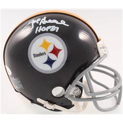 "Joe Greene Signed Steelers Mini-Helmet Inscribed ""HOF 87"" (JSA COA)"
