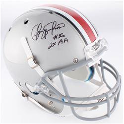 "Chris Spielman Signed Ohio State Buckeyes Full-Size Helmet Inscribed ""2x AA"" (JSA COA)"